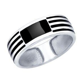 Кольцо из серебра с эмалью 94011867 SOKOLOV