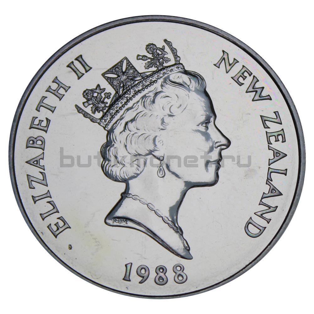 1 доллар 1988 Новая Зеландия Желтоглазый пингвин