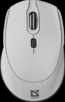НОВИНКА. Беспроводная оптическая мышь Genesis MB-795 белый, 4 кнопки, 1200-2400 dpi