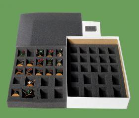 Коробка с ложементом для миниатюр пехоты 28-35 мм