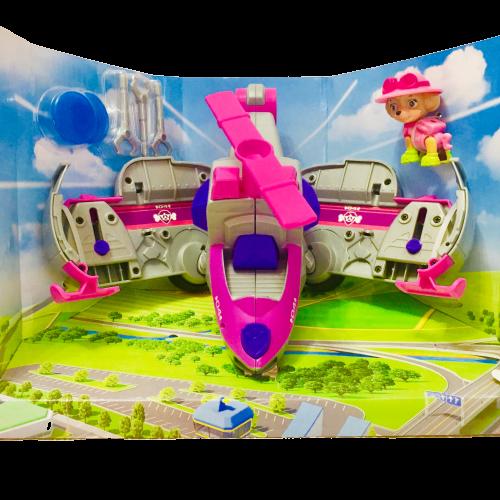 Самолет-трансформер и Скай (звук, свет) из мультсериала Щенячий патруль