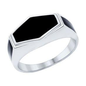 Кольцо из серебра с эмалью 94011938 SOKOLOV