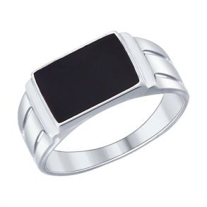 Кольцо из серебра с эмалью 94012004 SOKOLOV