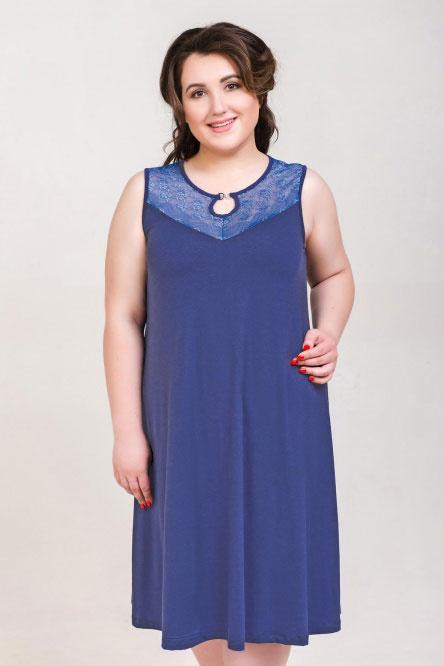 Ночная сорочка арт.0336-54 индиго, вискоза