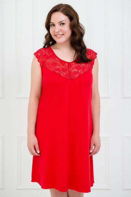Ночная сорочка арт.0339-05 красная, вискоза