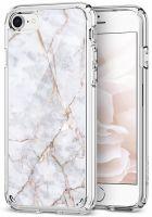 Чехол Spigen Ultra Hybrid 2 Marble для iPhone 8 белый