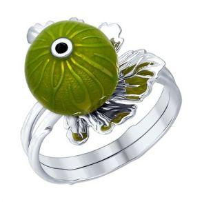 Наборное кольцо из серебра 94012269 SOKOLOV