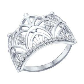 Кольцо из серебра с фианитами 94012299 SOKOLOV