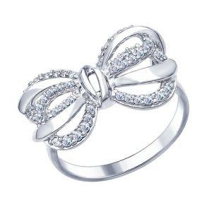 Кольцо из серебра с фианитами 94012331 SOKOLOV
