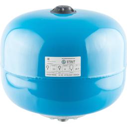 Расширительный бак 24 л., гидроаккумулятор вертикальный (цвет синий)