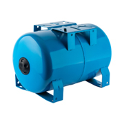 Расширительный бак 300 л., гидроаккумулятор горизонтальный (цвет синий)