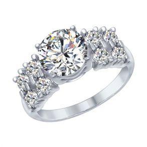 Кольцо из серебра с фианитами 94012566 SOKOLOV