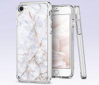 Купить оригинальный чехол Spigen Ultra Hybrid 2 Marble для iPhone 7 белый чехол для Айфон 7 в Москве в интернет магазине аксессуаров для смартфонов elite-case.ru
