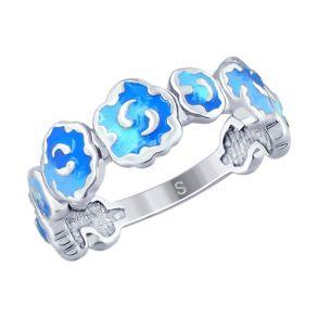 Кольцо из серебра с эмалью 94012640 SOKOLOV