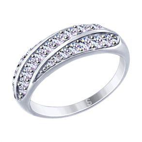 Кольцо из серебра с фианитами 94012648 SOKOLOV