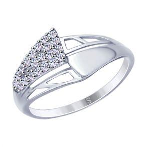 Кольцо из серебра с фианитами 94012680 SOKOLOV