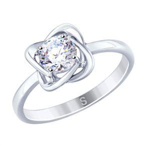 Кольцо из серебра с фианитом 94012694 SOKOLOV
