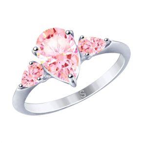 Кольцо из серебра с фианитами 94012751 SOKOLOV