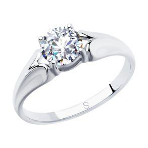 Кольцо из серебра с фианитом 94012829 SOKOLOV