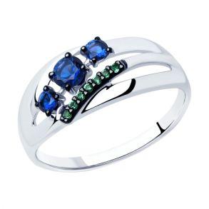 Кольцо из серебра с фианитами 94012915 SOKOLOV
