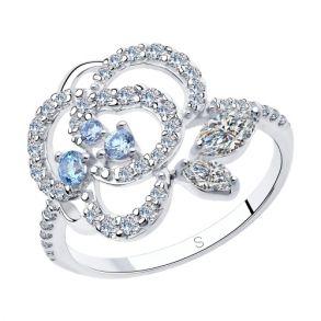 Кольцо из серебра с фианитами 94013019 SOKOLOV