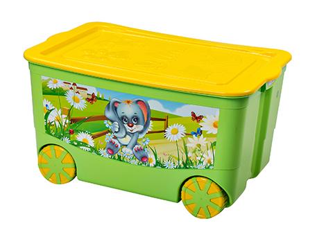 """Ящик для игрушек """"KidsBox"""" на колёсах Эльф-пласт"""
