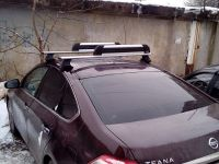 Универсальный багажник на крышу Nissan Teana J32 2008-14 - D-Lux 1, крыловидные дуги