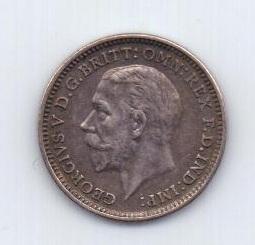 3 пенса 1931 года AUNC Великобритания