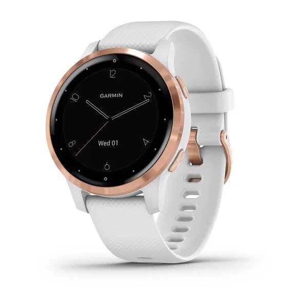 Часы Garmin Vivoactive 4s белые с золотистым безелем