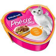 Vitakraft POESIE Консерва для кошек индейка в сырном соусе, 85г