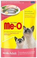 Me-O Влажный корм для кошек сардина с красным окунем в желе, 80г