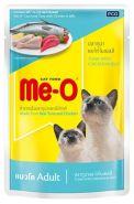 Me-O Влажный корм для кошек тунец и курица в желе, 80г