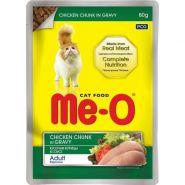 Me-O Влажный корм для кошек курица в соусе, 80г