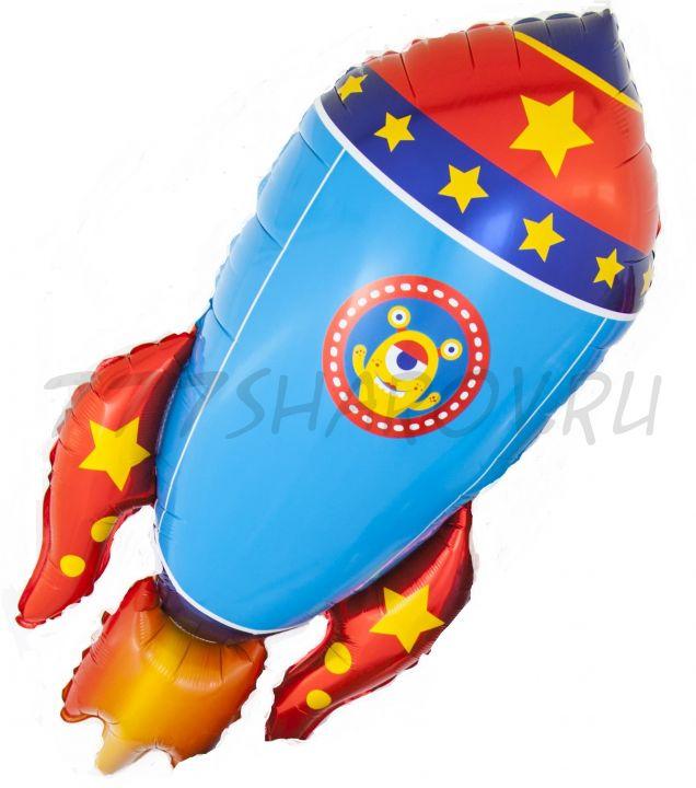 Фигура, Космическая ракета, 104 см с гелием
