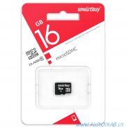 SmartBuy Карта памяти microSD 16Gb 10 class