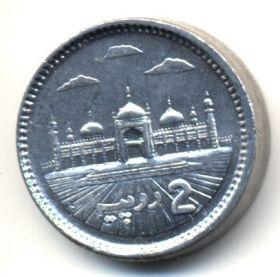 Пакистан 2 рупии 2014