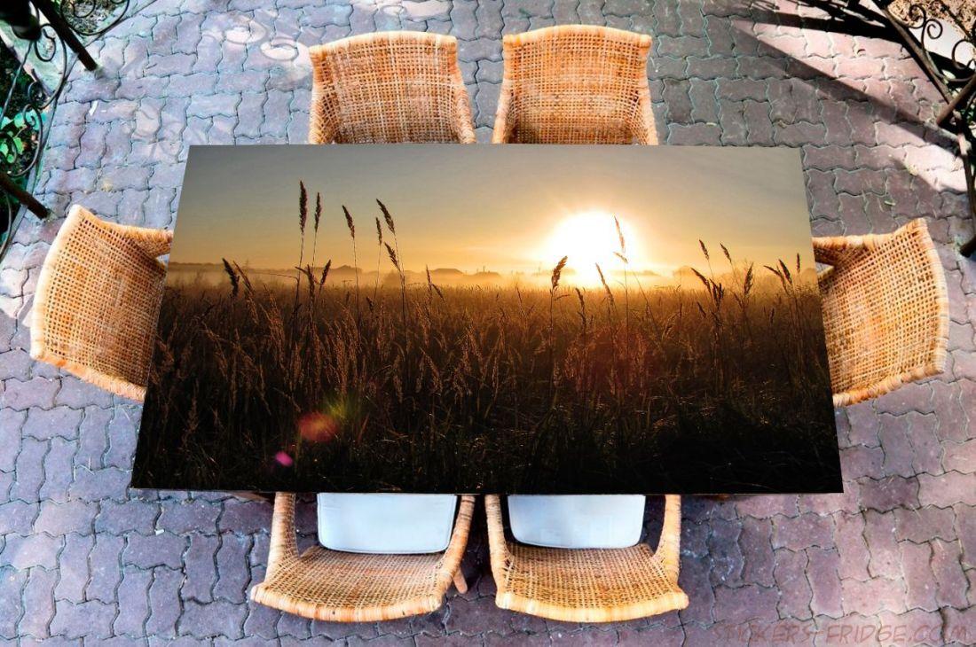 Наклейка на стол - Рассвет в сентябре