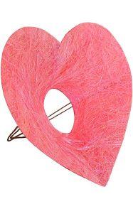 Каркас для букета Сердце d 25 см. /цвет розовый/