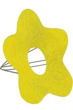 Каркас для букета Цветок №1 сизаль d 16 см. /цвет жёлтый/