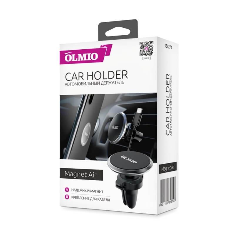 Автомобильный держатель Magnet Air, OLMIO для смартфонов