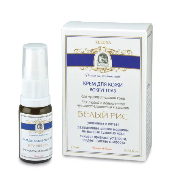 Крем для кожи вокруг глаз «Белый рис» – для людей с чувствительной кожей и с повышенной чувствительностью к запахам (продукт без эфирных масел и ароматизаторов)