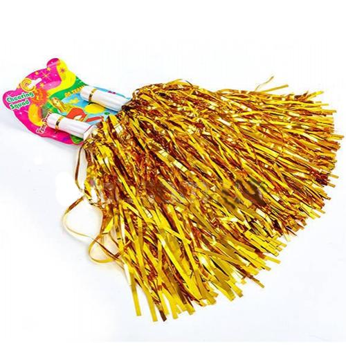 Помпоны для черлидинга и танцев Pom Poms, цвет - золотой.