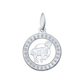 Подвеска «Знак зодиака Овен» из серебра 94031383 SOKOLOV