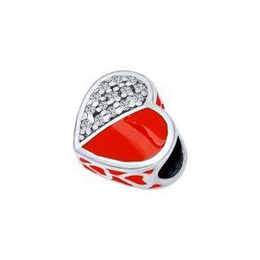 Подвеска-шарм из серебра с эмалью с фианитами 94031662 SOKOLOV