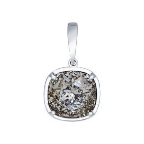 Подвеска из серебра с чёрным кристаллом Swarovski 94031810 SOKOLOV
