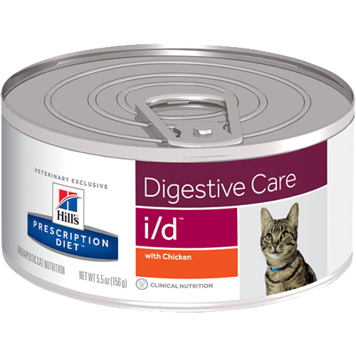 Консервы Hill's prescription Diet i/d Digestive Care для кошек и котят при расстройствах пищеварения, ЖКТ, с курицей 156 гр