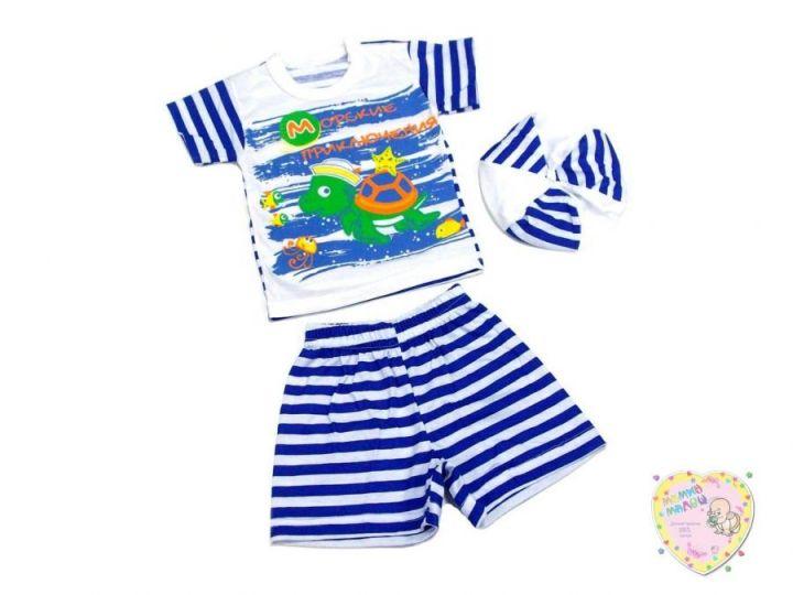 Костюм: берет, футболка, шорты kA-KS469(2)-SUk(t) (100% хлопок)