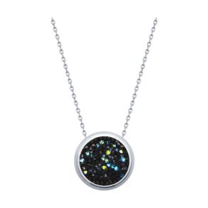 Серебряное колье с кристаллами Swarovski 94070120 SOKOLOV