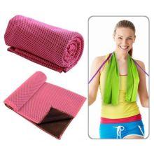 Охлаждающее полотенце Chill Mate Instant Cooling Towel, Тёмно-розовый
