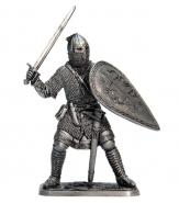 Русский воин-дружинник, 13 век (олово)